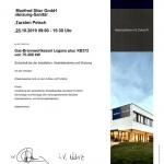 BUDERUS 3 Zertifikat 2019